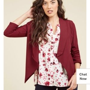 Marketing Maven Blazer in Burgundy- M
